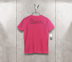 T-shirt auriculares back