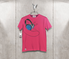 T-shirt auriculares front