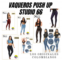 ESPECTACULARES JEANS STUDIO 66 -- ORIGINALES PUSH UP COLOMBIANOS 20-04-20